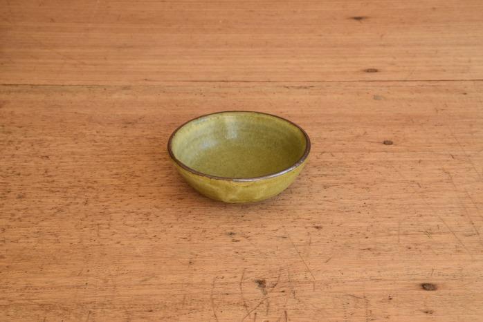 中村恵子|深緑バスク鉢(ミニ) 水平