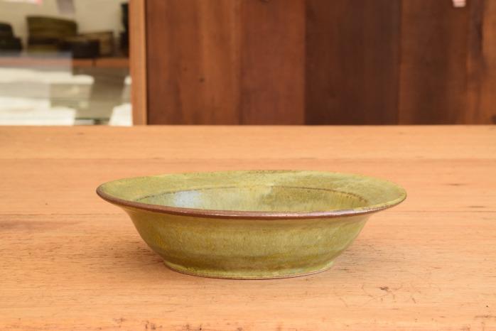 中村恵子|深緑スープ鉢 水平