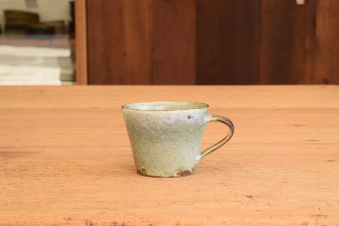 中村恵子|青粉引マグカップ(小) 水平