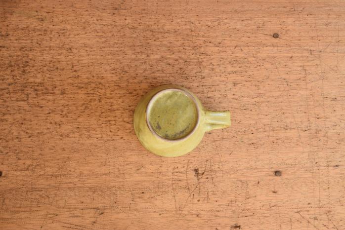 中村恵子|深緑マグカップ(小)  俯瞰・裏