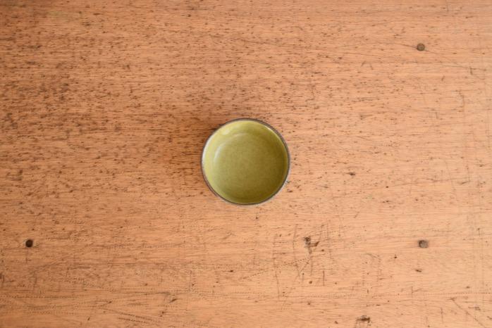 中村恵子|深緑バスク鉢(豆 俯瞰・表