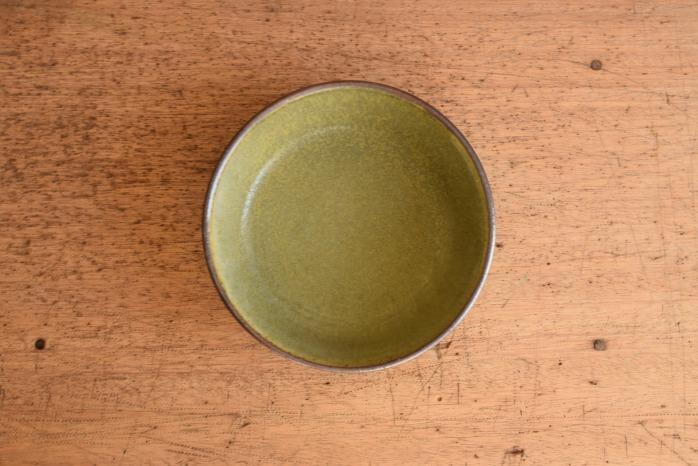 中村恵子|深緑ドラ鉢  俯瞰・表