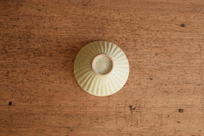 折笠秀樹|ワラマット釉シノギ飯碗(小)