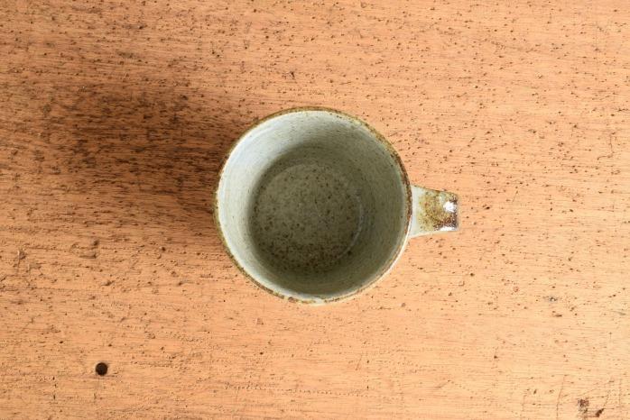 中村恵子|青粉引マグカップ(小)  俯瞰・表