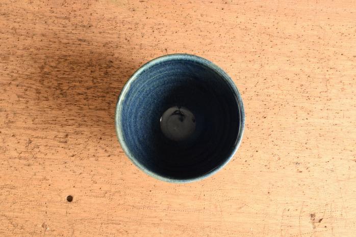中村恵子|黒カフェオレボウル  俯瞰・表