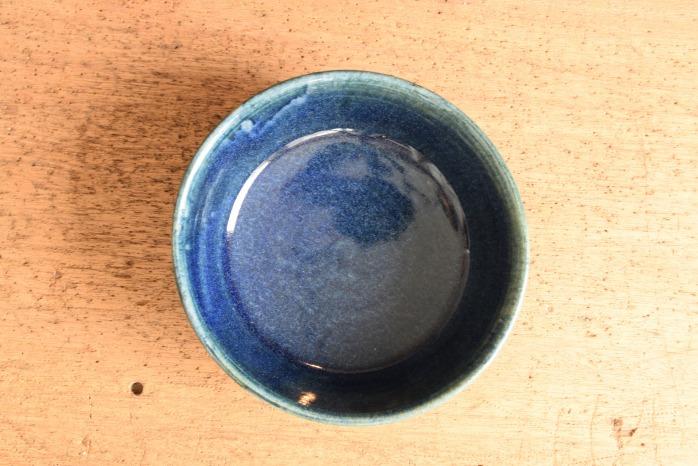 中村恵子|インディゴドラ鉢  俯瞰・表