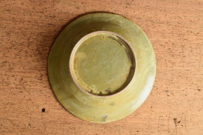 中村恵子|深緑スープ鉢 俯瞰・裏