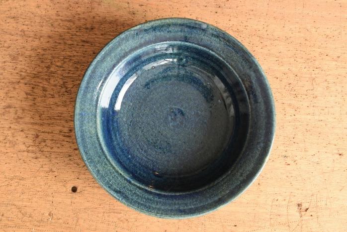 中村恵子|インディゴスープ鉢 俯瞰・表