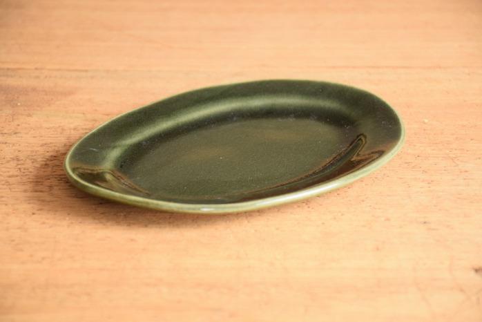 矢口桂司|呉須釉オーバルプレートM 色々な意味で使いやすいオーバル皿です。