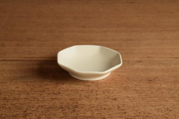 照井壮|白釉八角小皿
