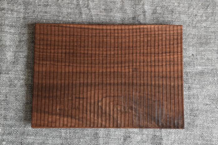 Semi-Aco 加賀雅之|pan皿(ウォールナット・細) 俯瞰
