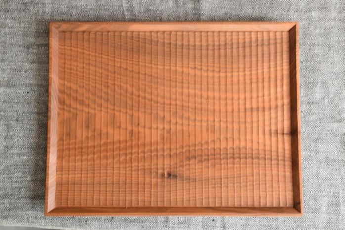 Semi-Aco 加賀雅之|彫り盆 正面 一生モノ!無垢材の木のお盆
